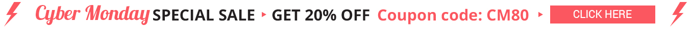Cyber Monday 20% OFF Coupon CM80